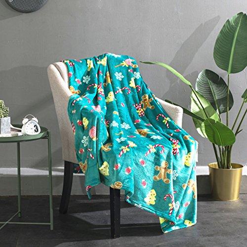 Flannel Fleece Super Soft Blanket, Floral Cozy Warm Plush Mi