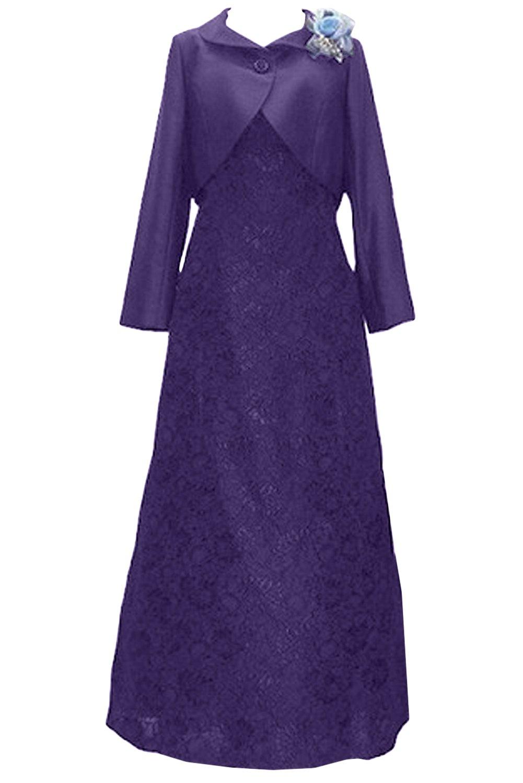 (ウィーン ブライド)Vienna Bride 披露宴用母親ドレス ママのドレス ロングドレス 新婦の母ドレス ボレロ 2ピースドレス 紺色 演奏会 発表会 パーティー お呼ばれ B06XKNQFK3 19|パープル パープル 19