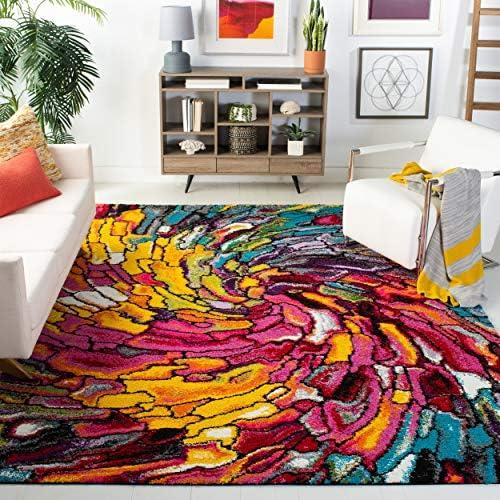 Safavieh Fiesta Shag Collection FSG373M Multicolored Area Rug 9 x 12