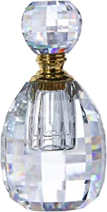 QF 3ml Crystal Perfume Bottles Clear Decor Vintage Style Empty Faceted Glass Bottles Refillable