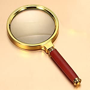 Magnifying Glass 6X Magnification Magnifier Handheld Magnifier for Science, Reading Book, Inspection. (6X Handheld Magnifier)