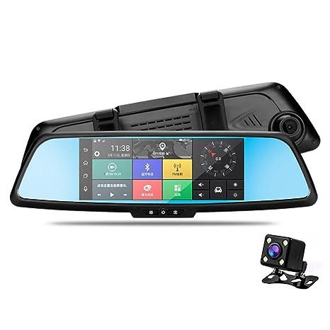 OXOQO - Cámara para salpicadero doble, para coche 3G DVR 7 pulgadas IPS pantalla táctil Full HD ...