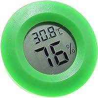 1 medidor de humedad y temperatura VEVICE, digital (medidor de humedad, termómetro, higrómetro, impermeable, pantalla LCD, marca grados centígrados, para interiores y exteriores)
