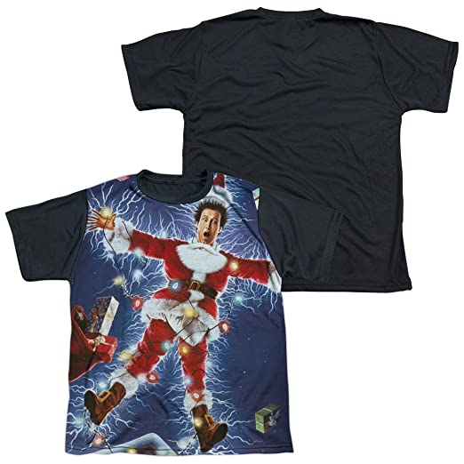 f207154ed Image Unavailable. Image not available for. Color: Christmas Vacation  Electrified Youth or Boy's Sublimated Black Back T Shirt