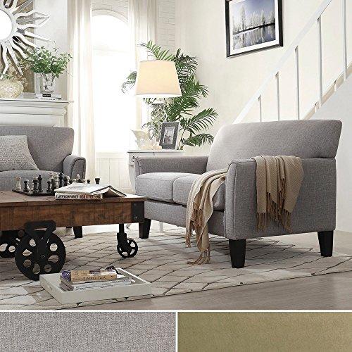 Metro Shop TRIBECCA HOME Uptown Modern Loveseat-Peat Microfiber - Metro Modern Sofa
