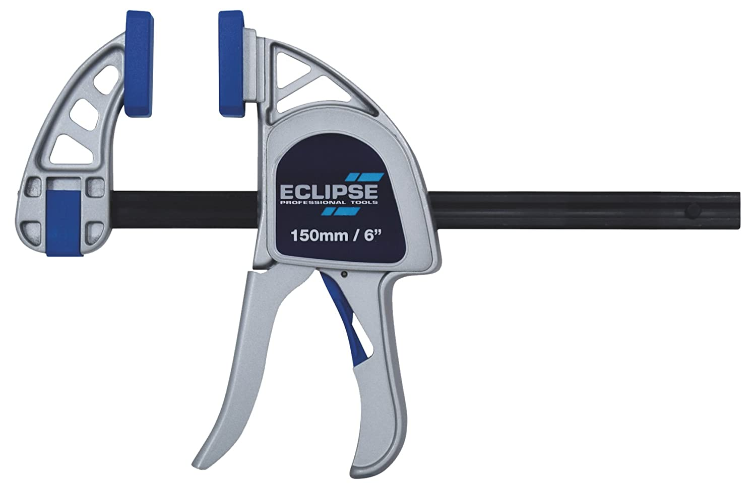 Eclipse Tools EOHBC6-HD Heavy Duty One Handed Bar Clamp, Blue/Silver/Black, 6-Inch