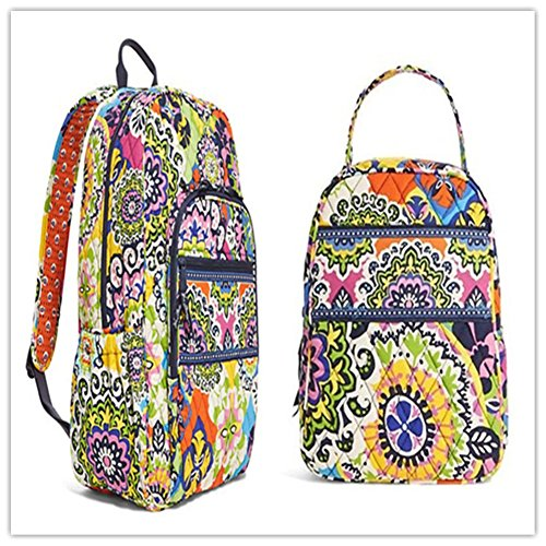 Vera Bradley Campus Backpack and Lunch Bunch Rio