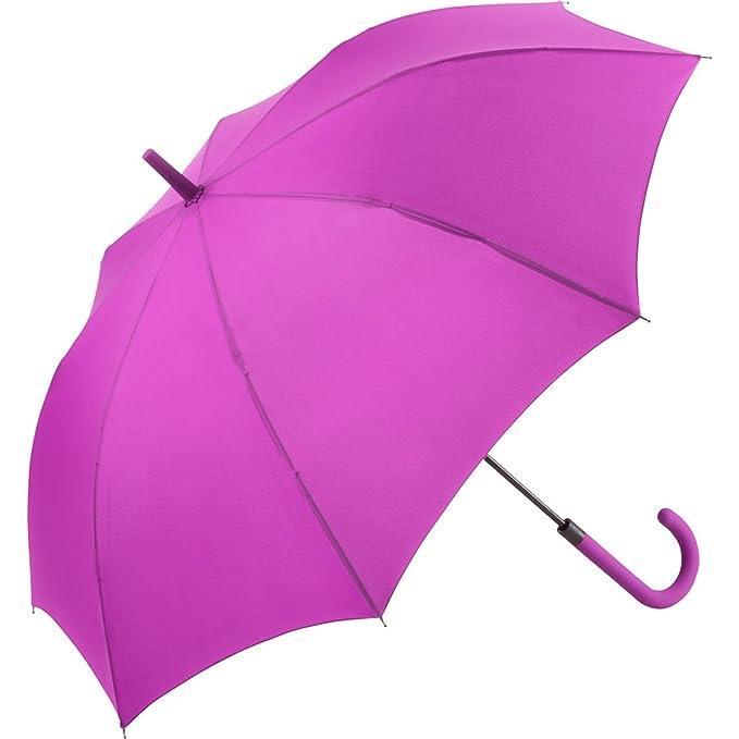 Fare – Paraguas Standard 105 cm mango bastón – 1115 – Mauve – Windproof – Apertura