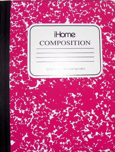 iHome | Composition Notebook - Folio Case for iPad Mini - Pink (See More Colors)