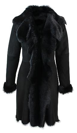 Veste cuir fourrure pour femme