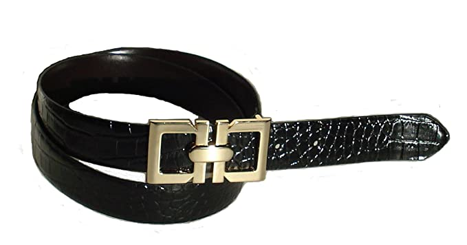 4daec188ec50 BeltsandStuds Women Fashion Designer Dress Belt with Gold Buckle S 32 Black