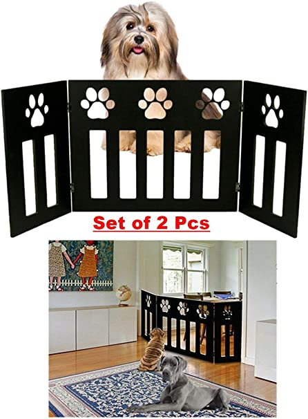 Extra Tall Baby Safety Fence Walk Thru Gate Pet Cat Dog Portable Expandable Door