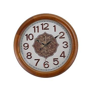 Fengfeng Reloj de Pared, Estilo Europeo Retro de Pared de Madera Campana Creativa Sala de Estar Dormitorio Relojes silenciosos Arte de Pared Decorativos: ...