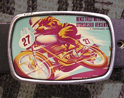 Vintage Russian Motorcycle Racer Belt Buckle