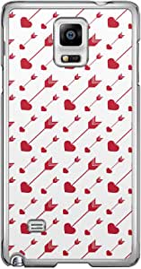 Loud Universe Samsung Galaxy Note 4 Love Valentine Printing Files A Valentine 65 Printed Transparent Edge Case - White/Red