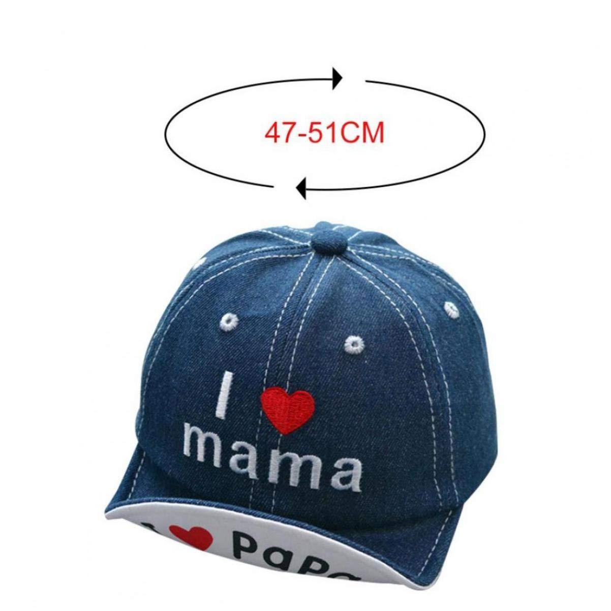 I Love Mama Papa Baseball Cap Kinder Baby Mädchen Jungen Basecap Snapback Kappe