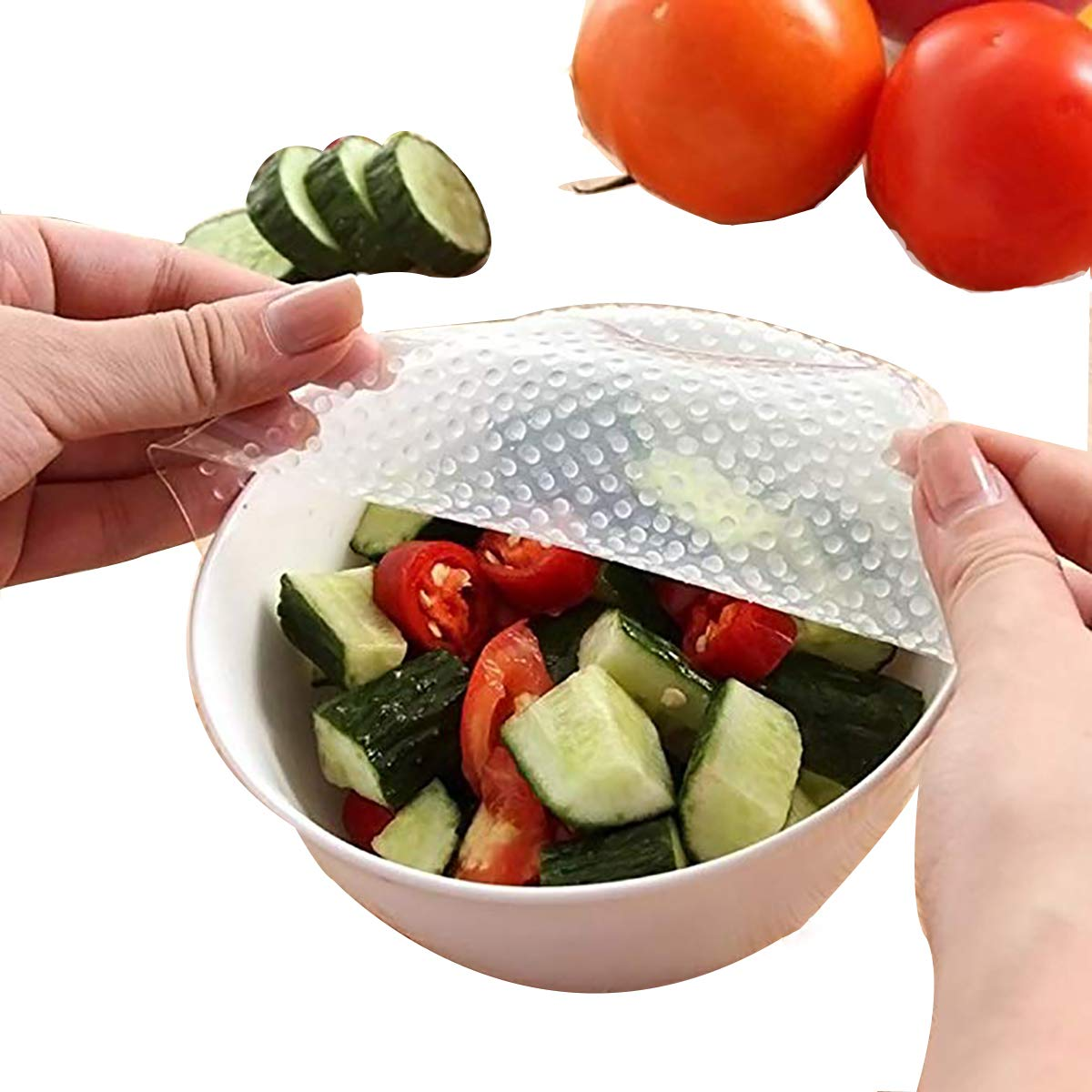 YIJIA 4Pcs Recycling Environmental Protection Silicone Preservative Film Cling Wrap Dispenser Preservative Film Cutter