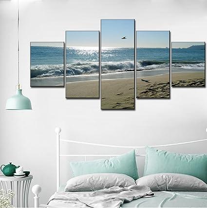 Amazon.com: Beach Ocean Painting on Canvas Extra Large Wave seascape ...