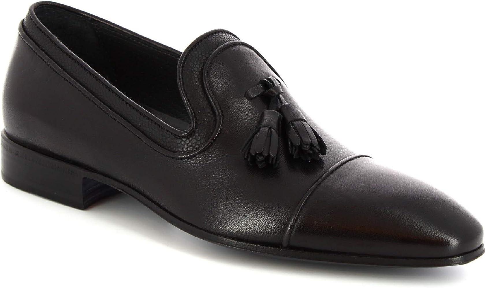 Leonardo Shoes Mocasines con borlas Hechas a Mano Hombre Piel de ...