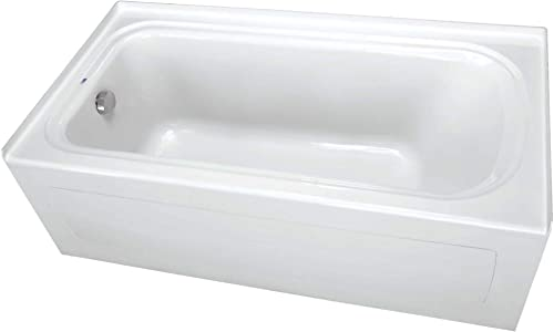 PROFLO PFS6636LSKWH PROFLO PFS6636LSK 66 x 36 Alcove Soaking Bath Tub with Skirt and Left Hand Dra