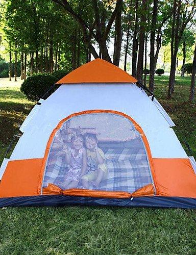 FUDA tent Zelt ( Gelb / Wei? / Gr¨¹n / Grau / Himmelblau , 3-4 Personen ) -Feuchtigkeitsundurchl?ssig / Wasserdicht / Atmungsaktivit?t / W?rmeschutz