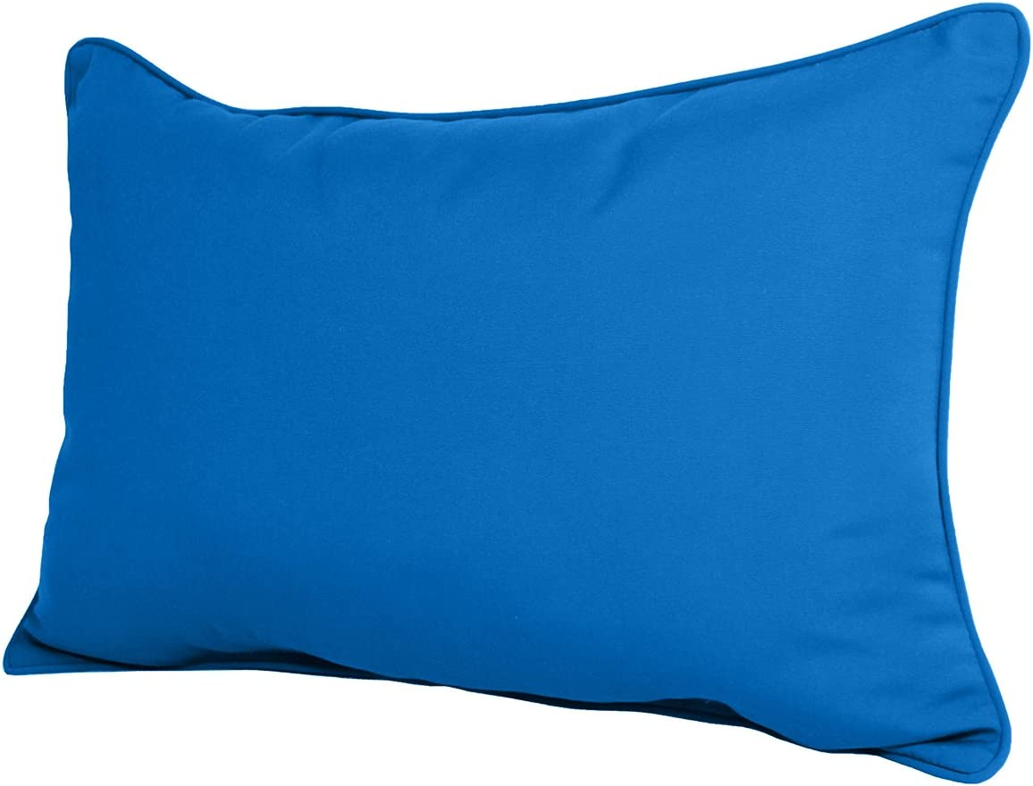 22w X 14d X 4h Sunbrella Outdoor Lumbar Pillow In Pacific Blue By Comfort Classics Made In Usa Home Kitchen