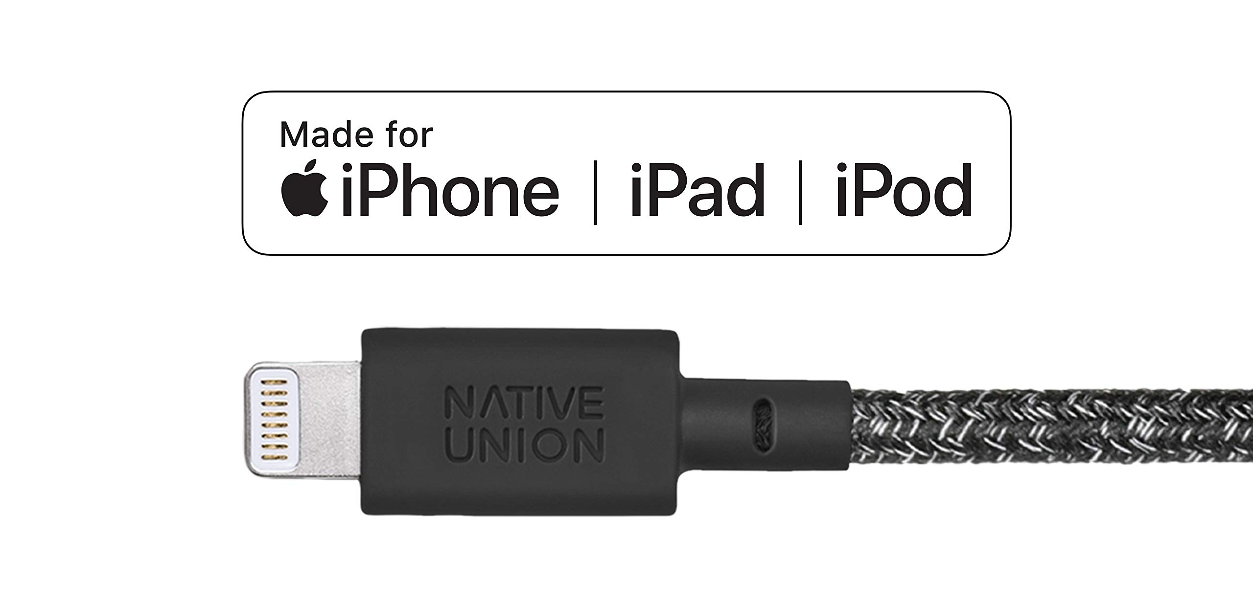 Native Union Dock+ Weighted Charging Dock with [Apple MFi Certified] Reinforced Lightning Cable for iPhone/iPad (Stampd) by Native Union (Image #2)