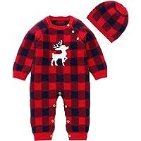 SANMIO - Conjunto de Ropa de Navidad para recién Nacidos, niños, niñas, Color Rojo