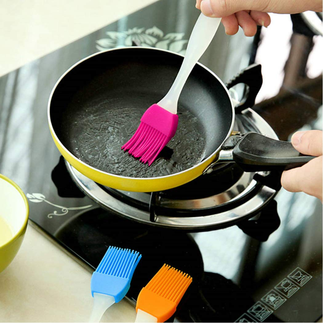 LiaoTI Silicone Basting Pastry Brushes Set of 5, Barbecue Utensil use for BBQ Meat, Cakes, Pastries-Heatproof, Dishwasher Safe Flexible Easy Clean, BPA Free and FDA Approved by LiaoTI (Image #6)