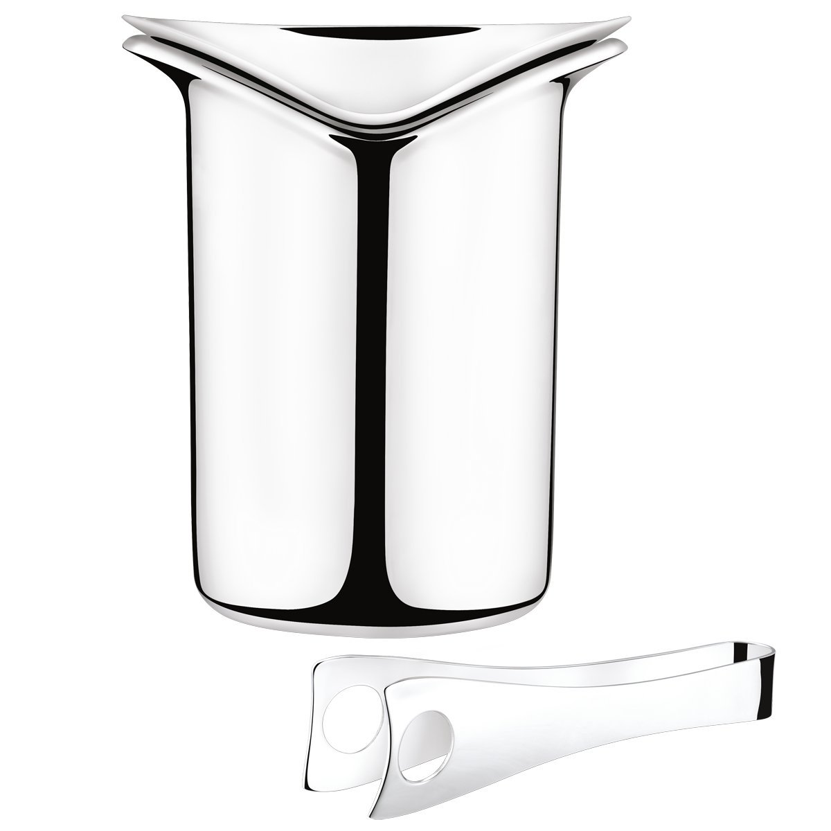 Georg Jensen - Ice Bucket with Tong, Stainless Steel
