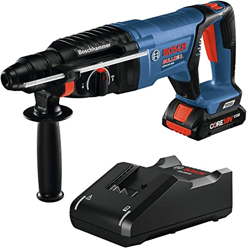 Bosch GBH18V-26DK15 18V EC Brushless SDS-plus Bulldog 1 In. Rotary Hammer Kit with 1 CORE18V 4.0 Ah Compact Battery