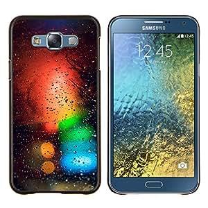 Caucho caso de Shell duro de la cubierta de accesorios de protección BY RAYDREAMMM - Samsung Galaxy E7 E700 - Colores Bokeh