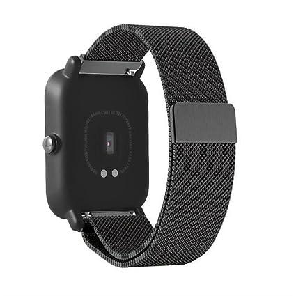 Amazfit Watch Xiaomi Correa, Zolimx Banda de Reloj de Accesorios MagnéTico Milanés de Acero Inoxidable