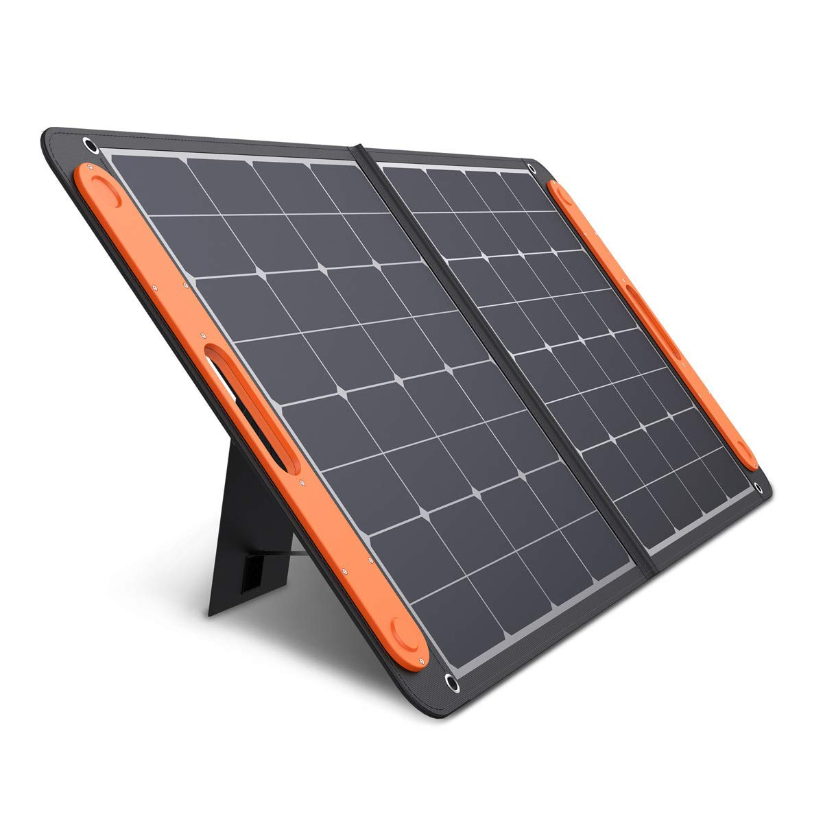 Jackery SolarSaga 100W Portable Solar Panel for Explorer 160/240/500 Power Station, Foldable US Solar Cell Solar Charger with USB Outputs for Phones (Can't Charge Explorer 440/ PowerPro) by Jackery