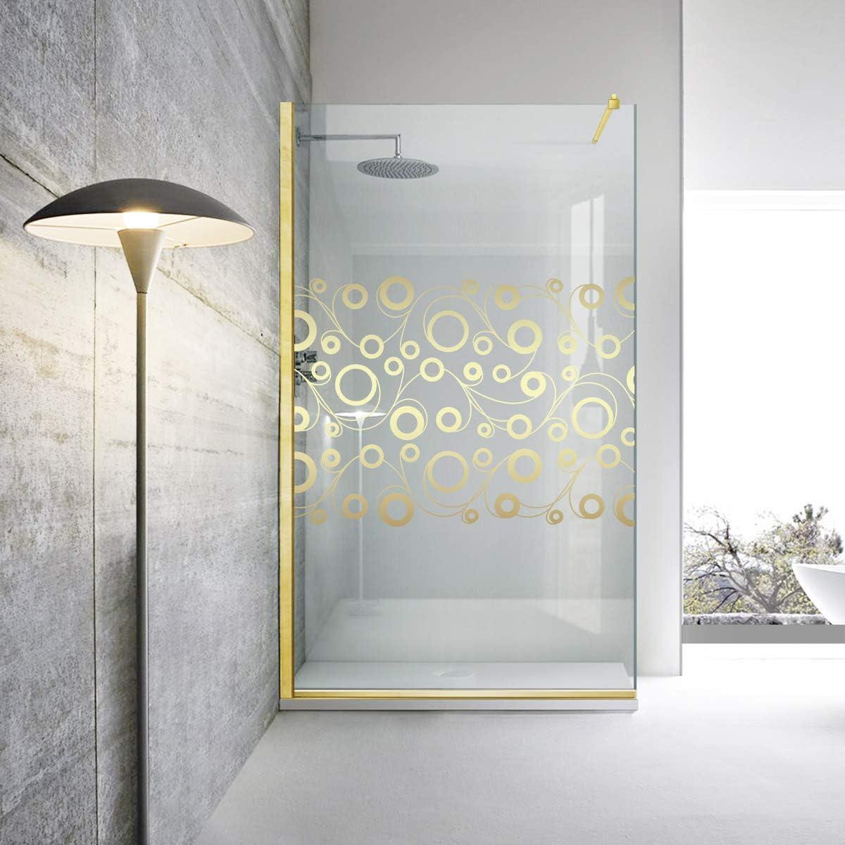Modern Glass Art Leroy Timeless Oslo - Mampara de ducha (8 mm, cristal templado de seguridad, nano, acabado de latón dorado), transparente: Amazon.es: Bricolaje y herramientas