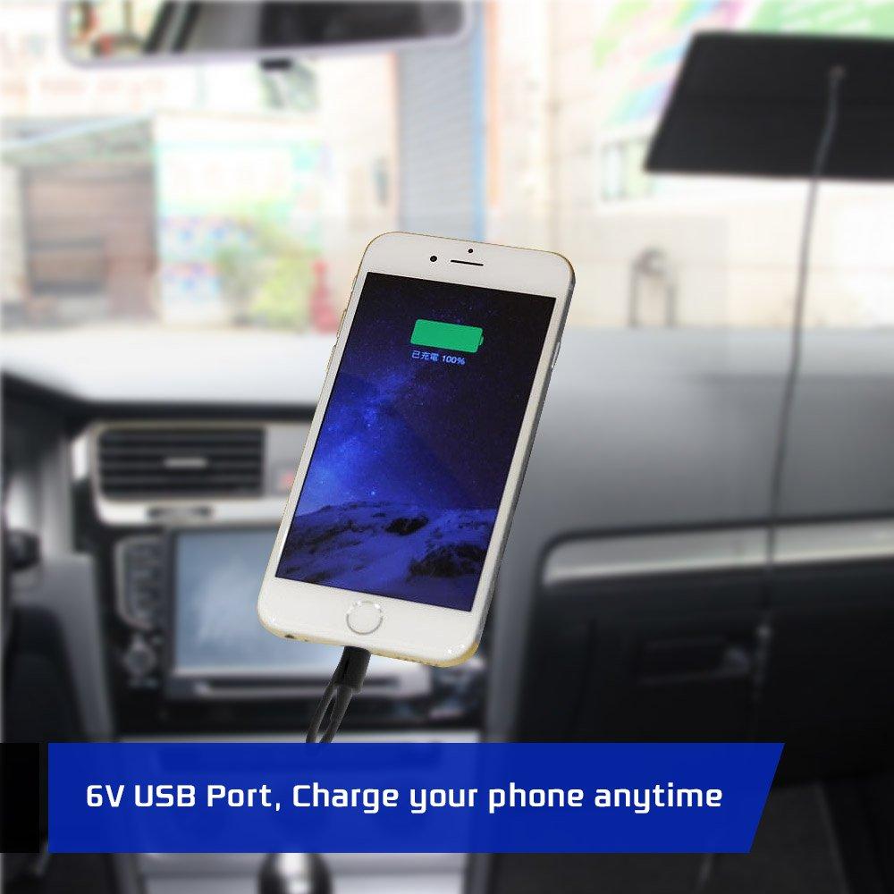 5W panneau solaire chargeur batterie voiture 12V Recharge ext/érieur Source de courant de voyage Camping NUZAMAS Poartable 4