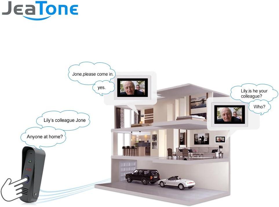 Jeantone 1.3 MP HD Cam/éra ext/érieure 17,8 cm Moniteur /à /Écran Tactile Vid/éo Porte T/él/éphone Sonnette kit Intercom Syst/ème dentr/ée Vid/éo