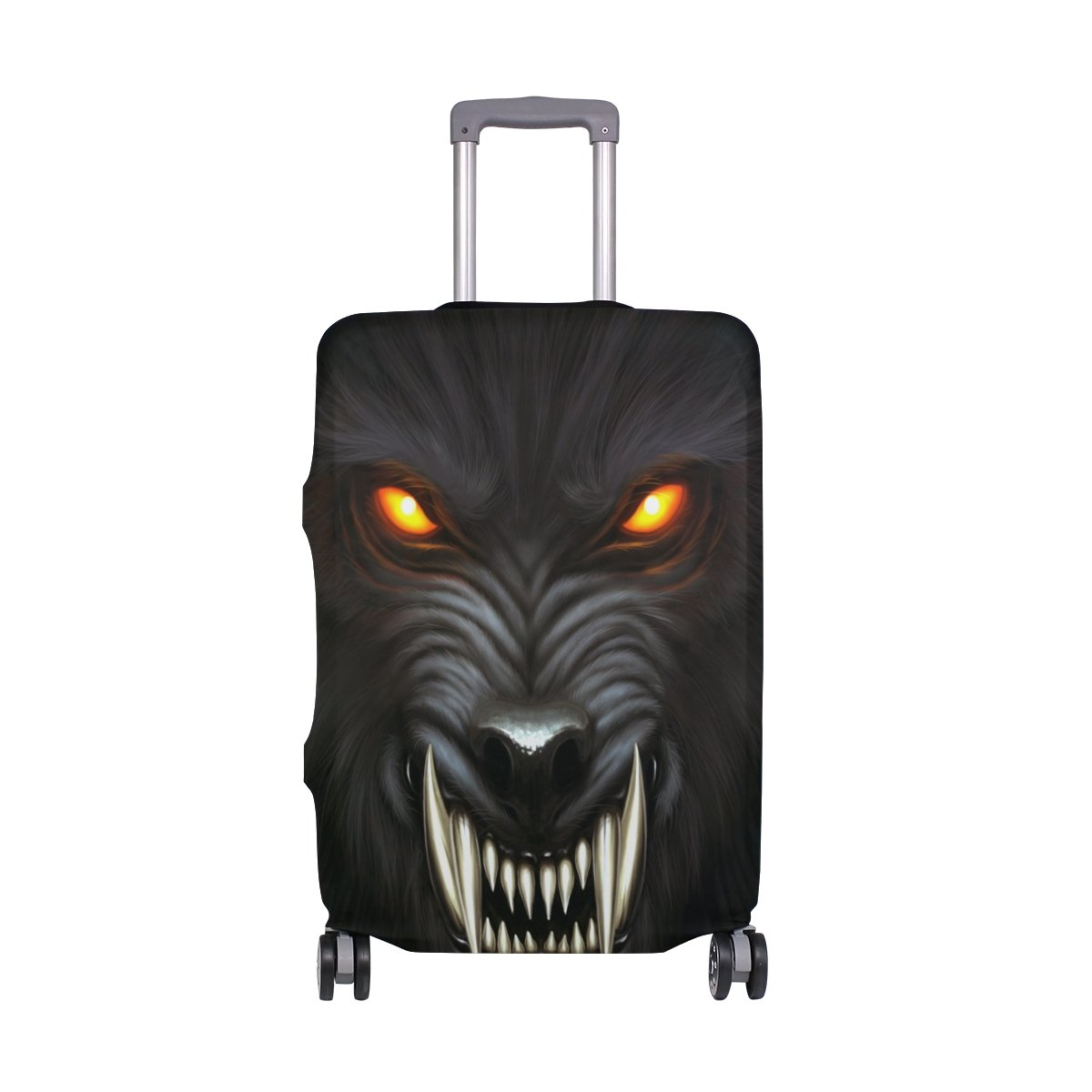 Wolf Luggage Cover Suitcase Protector Washable Spandex Baggage Cover with Zipper for Travel, Business and Outdoor by Yomole (Image #1)