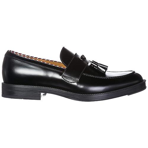 Gucci 523273AZM601072 - Mocasines de Cuero para Hombre Negro Negro Negro Size: 43 EU: Amazon.es: Zapatos y complementos