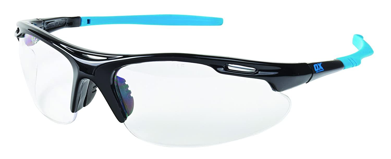 d51ec3518c78 OX - Professional Wrap Around Safety Glasses - UV Protection Safety Glasses  - Clear Lens Safety Glasses - Clear: Amazon.co.uk: DIY & Tools