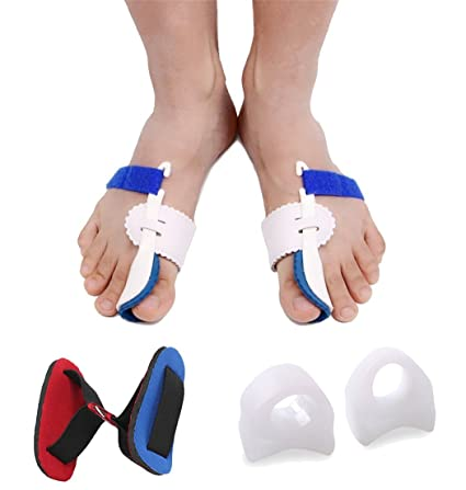Amazon.com: Bunion Pads Foot Pain Care ,Gel Toe Separators Spacers Straighteners for Hallux Valgus (5): Health & Personal Care