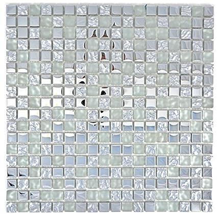Mosaico Piastrelle Mosaico di vetro traslucido Crystal EP ...