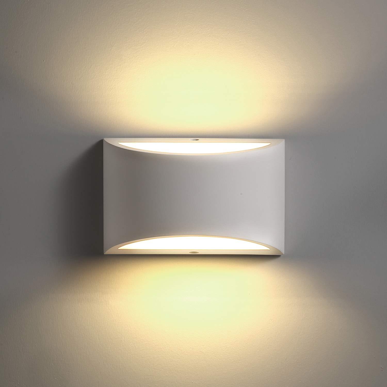 TRLIFE LED Wall Sconces Lighting, 9W 3000K Warm White Wall Sconce Plaster LED Wall Sconce for Bedroom Living Room Bathroom Stairway Hallway Porch Hotel (with a 9W G9 LED Bulb)-02