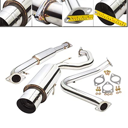 Amazon.com: Fit 1995-1999 Mitsubishi Eclipse/Eagle Talon (2.0L Non-Turbo) Engine 2.25 Inch Stainless Steel Catback Exhaust System 4.5 Inch Muffler Tip: ...