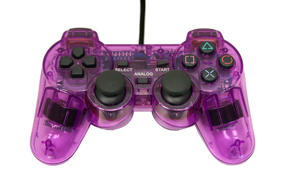 Playstation 2 Wired Replacement Controller - Transparent Purple - by Mars Devices