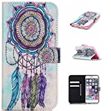 iPhone 6S Plus Case Jenny Shop (Colorful Windbell) Compound PU Leather Cover with Wristlet Strap Build-in Card Slots Stylish Slim Stand Magnetic Closure for Apple iPhone 6S Plus CaseRelease