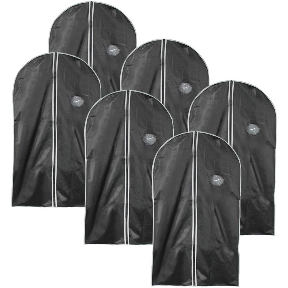 com-four/® Funda de Ropa 3X Bolsa de Ropa con Cremallera 03 Piezas - Negro Aproximadamente 100 x 60 cm