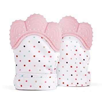 Baby Teething Mitten for Babies Self-Soothing Pain Relief and Teething Glove