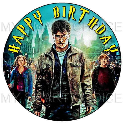 Harry Potter Image - 7.5 Inch Edible Cake Toppers - Harry Potter Themed Birthday Party Collection of Edible Cake Decorations