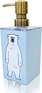 Blue Bear Foaming Hand Soap Dispenser. Handmade in Japan. Premium Quality and Original Design. Great Size for Countertop, Bathroom, Kitchen, Great for Kids or as a Gift